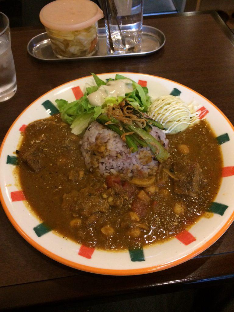 ラム肉とひよこ豆の週替わりカレー